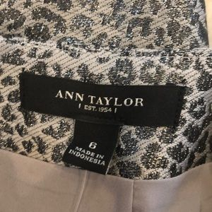 Ann Taylor Skirts - Ann Taylor Metallic, Two-toned Animal print skirt